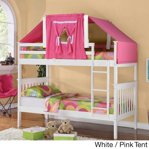 Donco Kids Kids Mission Twin Tent Bunk Bed & Donco Kids Kids Mission Twin Tent Bunk Bed - Free Shipping Today ...