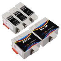 Sophia Global Compatible Ink Cartridge Replacement for Kodak 10XL B (3 Black, 2 Color)