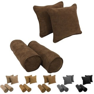 Blazing Needles Microsuede Throw Pillows with Removable Inserts (Set of 4)