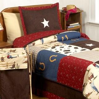 Sweet JoJo Designs Wild West Cowboy Boys Full/Queen 3-piece Comforter Set