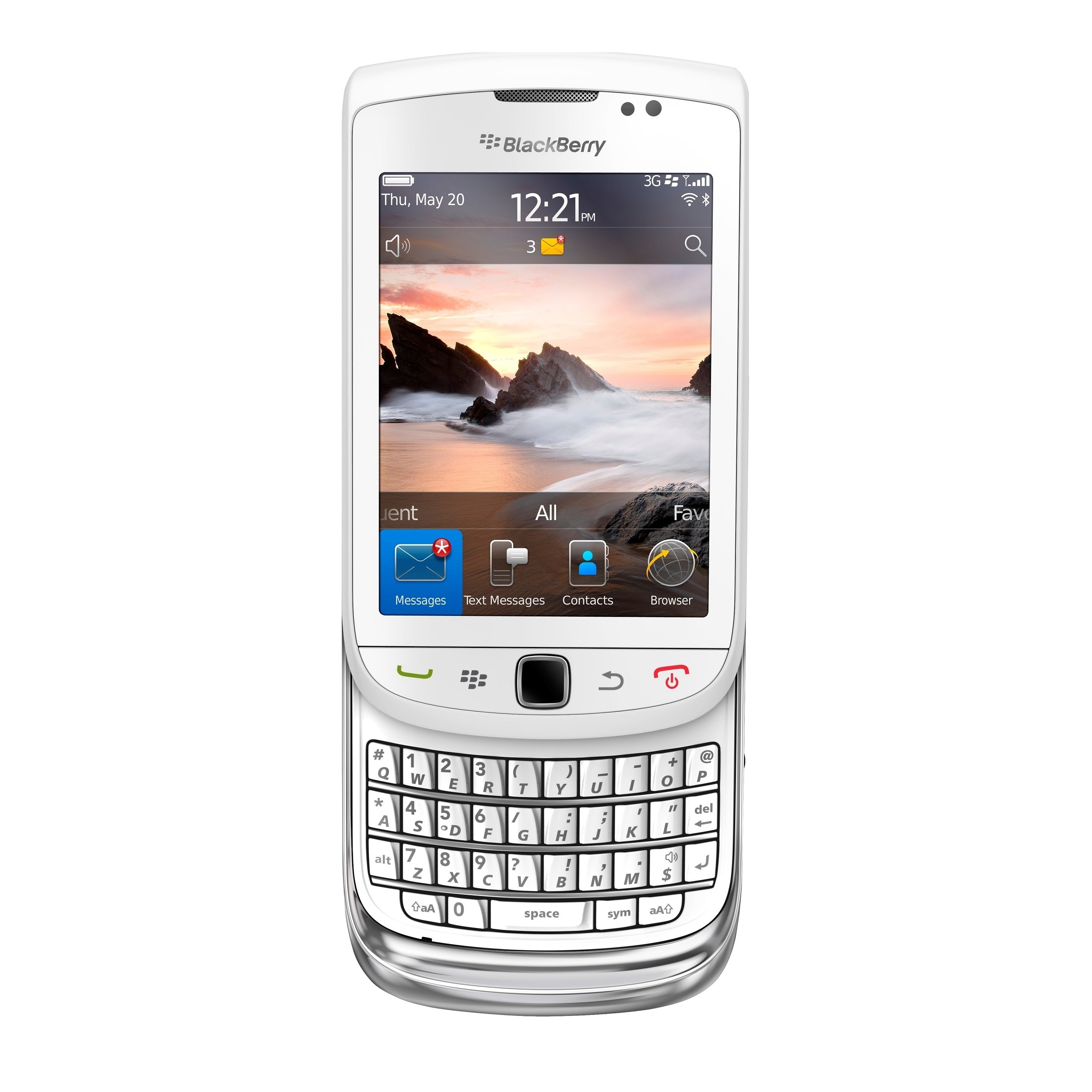 Blackberry Torch 9810 White Unlocked GSM OS 7 Cell Phone ...