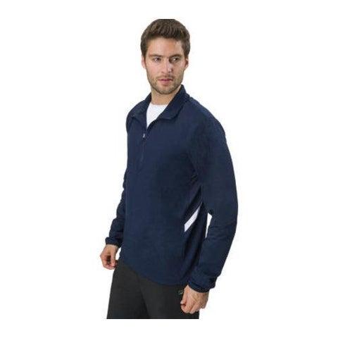 Men's Fila Fundamental Half Zip Jacket Peacoat/White