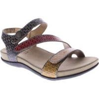 Women's Spring Step Novato Camel Multi Leather