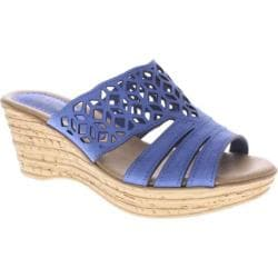 Women's Spring Step Vino Blue Leather