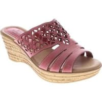 Women's Spring Step Vino Coral Leather