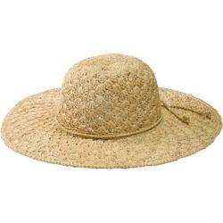 Women's San Diego Hat Company Raffia Shell Stitch Large Brim RHL3084 Natural