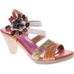 Women's Spring Step Plato Orange Multi Leather