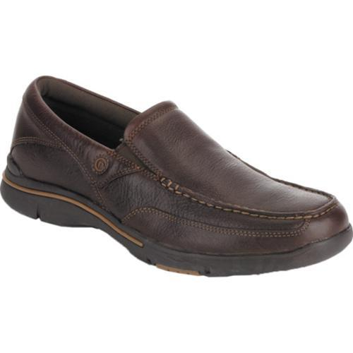 Rockport Dark Brown Mens Leather City Play Eberdon Loafers