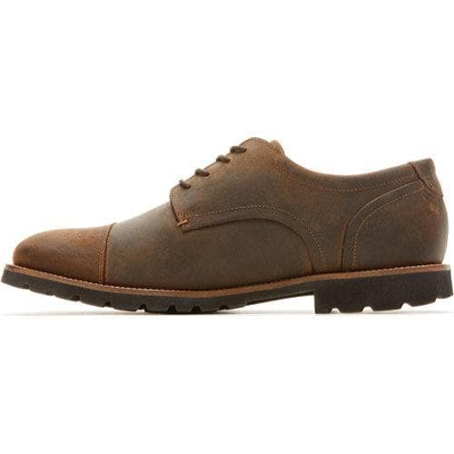 Men's Rockport Channer Oxford Brown II Leather - Thumbnail 2