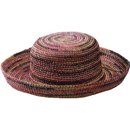 be6691a8c2110a Shop Women's San Diego Hat Company Crocheted Raffia Hat RHL10 Mixed Earth  Tone - Free Shipping On Orders Over $45 - Overstock.com - 9816904