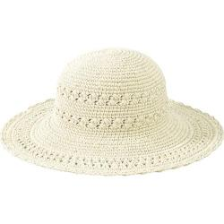 Women's San Diego Hat Company Cotton Crochet Hat Large Brim CHL1 Natural