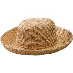 Women's San Diego Hat Company Crocheted Raffia Hat RHL10 Natural