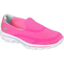 Girls' Skechers GOwalk 2 Super Sock Neon Pink