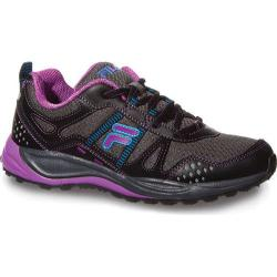 Women's Fila Statique Dark Shadow/Black/Purple Cactus Flower