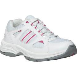 Women's Propet Tasha White/Pink Leather/Mesh