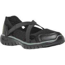 Women's Propet TravelLite Mary Jane Black Nylon