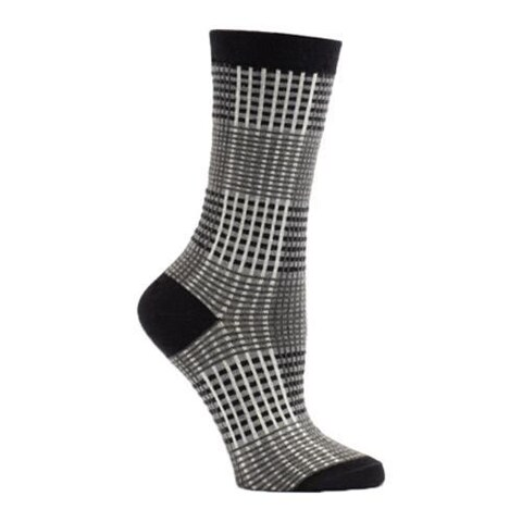 Women's Ozone Princess Of Wales Crew Socks (2 Pairs) Black
