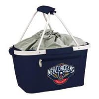 Picnic Time Metro Basket New Orleans Pelicans Print Navy