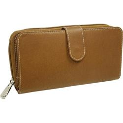 Piel Leather Multi-Compartment Wallet 2861 Saddle Leather
