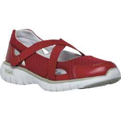 Women's Propet TravelLite Mary Jane Red Nylon