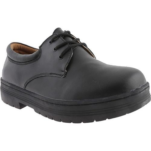 Men's White Cross Duty Oxford Black Leather