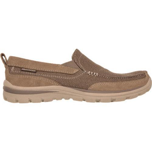 Men's Skechers Relaxed Fit Superior Milford Light Brown - Thumbnail 1