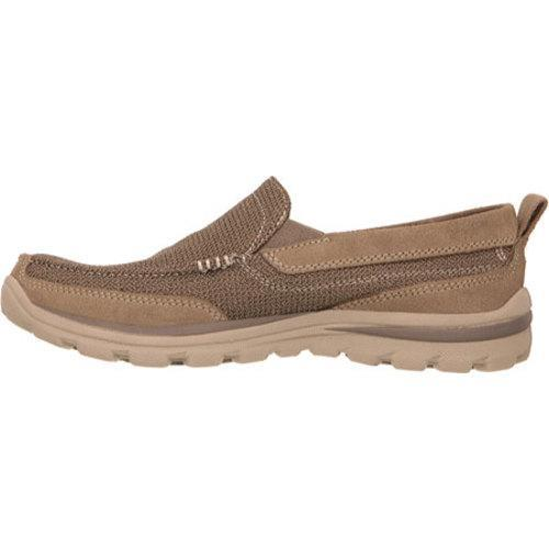 Men's Skechers Relaxed Fit Superior Milford Light Brown - Thumbnail 2
