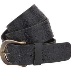A Kurtz Shaw Pattern Leather Belt Black
