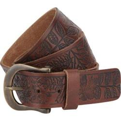 A Kurtz Shaw Pattern Leather Belt Brown