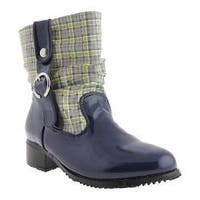 Women's Beacon Shoes Drizzle Navy Plaid Polyurethane