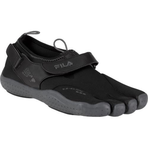 Men's Fila Skele-Toes EZ Slide Drainage Black/Castlerock ...