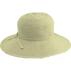 Women's San Diego Hat Company Ribbon Medium Brim Floppy RBM202 Cream