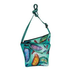 Women's Anuschka Asymmetric Slim Crossbody Floating Feathers
