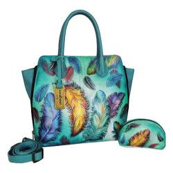 Women's Anuschka Medium Expandable Convertible Tote Floating Feathers