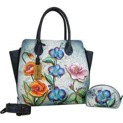 Women's Anuschka Medium Expandable Convertible Tote Floral Fantasy