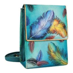 Women's Anuschka Mini Sling Organizer Floating Feathers