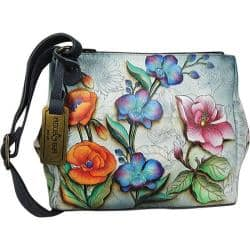 Women's Anuschka Triple Compartment Covertible Tote Floral Fantasy|https://ak1.ostkcdn.com/images/products/87/985/P17124826.jpg?impolicy=medium