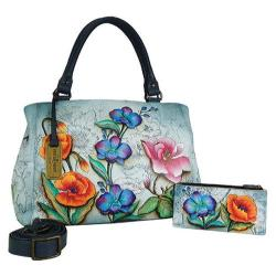 Women's Anuschka Triple Compartment Large Satchel Floral Fantasy