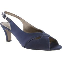 Women's David Tate Palm Navy Satin