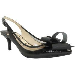 Women's J. Renee Garbi Black Faux Crinkle Patent