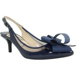 Women's J. Renee Garbi Navy Faux Crinkle Patent