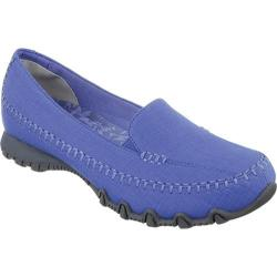 Women's Skechers Relaxed Fit Bikers Cross Walk Blue/Blue