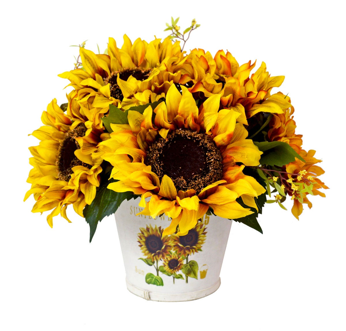 Creative Displays Vintage Golden Sunflower Decoration .