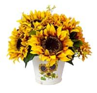 Creative Displays Vintage Golden Sunflower Decoration . - multi-color