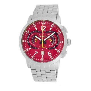 Roberto Bianci Men's Pro Racing Red Face Chronograph Watch