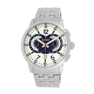 Roberto Bianci Men's Pro Racing White Face Chronograph Watch