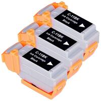 Canon BCI11 (BCI11Bk) Black Compatible Inkjet Cartridge (Remanufactured) (Pack of 3)