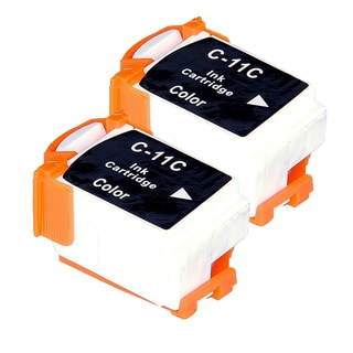 Canon BCI11 (BCI11C) Color Compatible Inkjet Cartridge (Remanufactured) (Pack of 2)