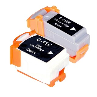 Canon BCI-11 Black/ Color Compatible Inkjet Cartridge (Remanufactured) (Pack of 2)