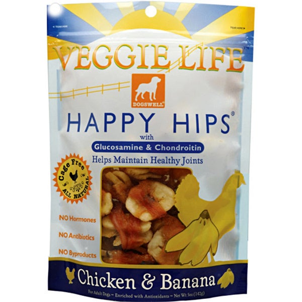 Dogswell Veggie Life Happy Hips Chicken and Banana Dog Treats (2-pack)